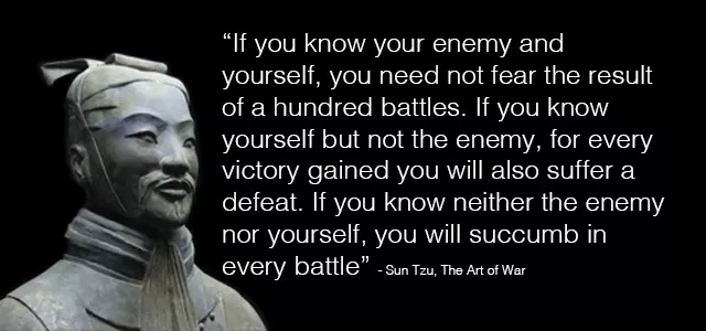 quote from sun tzu, art of war