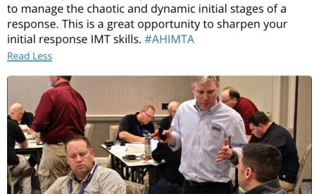 EMSI Delivers ICS-220 Training as part of the AHIMTA Conference
